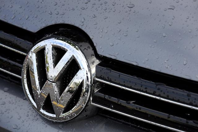 A view of a Volkswagen badge at a dealership in Ashford, Kent, as the company says 11 million vehicles worldwide are involved in a scandal surrounding emissions.