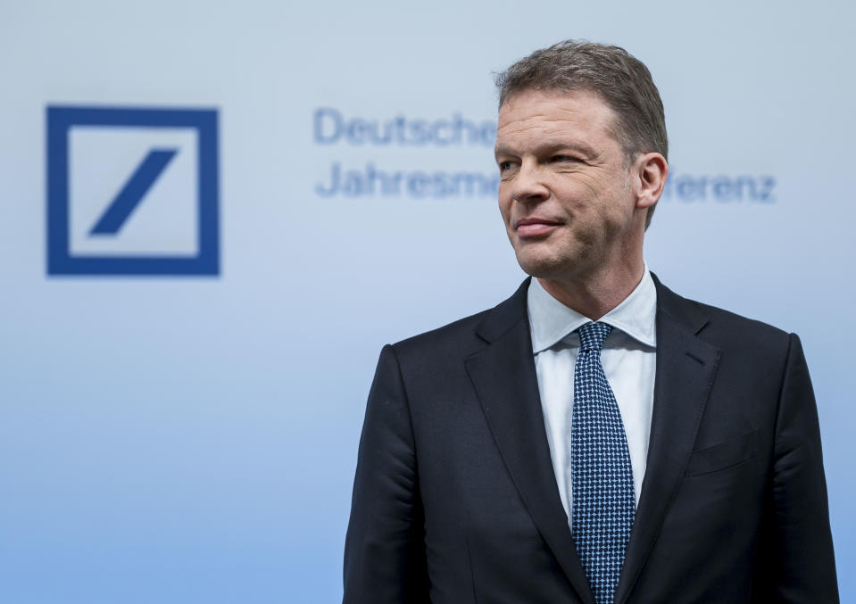 Deutsche Bank CEO Christian Sewing. Photo: Thomas Lohnes/Getty Images