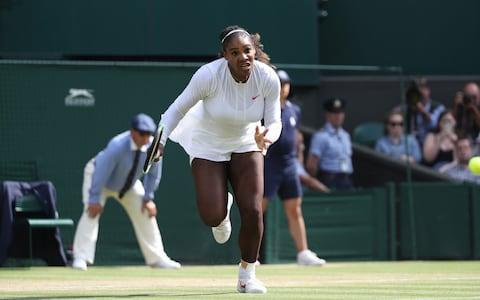 <span>Williams impressed with her speed around the court</span> <span>Credit: Action Plus </span>