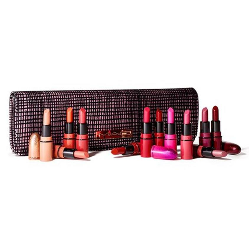 """<p>A dizzying array of holiday parties is no match for this <em>12-piece</em> —yes, you heard that right —collection of mini lipsticks from MAC Gift it to your social butterfly friend, with the challenge to last the entire party season without repeating a single stunning shade.</p> <p><strong>$74 (<a href=""""https://shop-links.co/1688580218013727154"""" rel=""""nofollow"""">Shop Now</a>)</strong></p>"""
