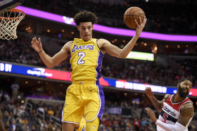 Lonzo Ball had 10 points, eight rebounds and eight assists Thursday night. (AP)