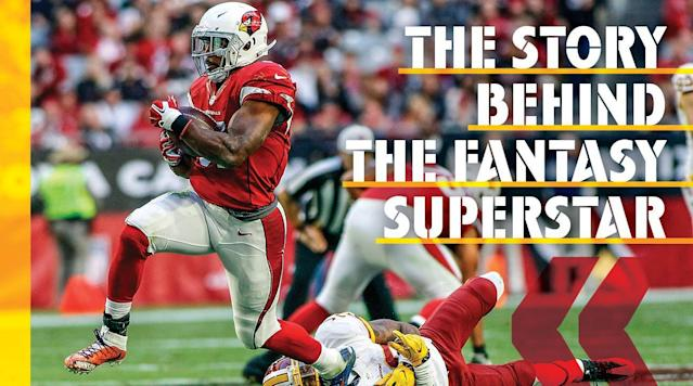 """<p><em>The stretch started on New Year's Day, with Cardinals running back David Johnson galloping toward history in Los Angeles. He had already gained 1,233 rushing yards in 2016. Now he needed 159 receiving yards to become only the third player in NFL history to join the 1,000-1,000 club, a football society so exclusive that all of its members (Marshall Faulk, Roger Craig) could fit on a love seat.</em></p><p><em>Over the first 14 days of 2017—Two Weeks in January—the story of the NFL's most unlikely superstar would take a series of strange turns. Johnson would frighten everyone he's closest to, affirm his status as a """"mutant,"""" throw his wife in a pool and, miles from the nearest football field, pray, </em>Please, Lord, do not let me fumble here<em>. But as the defining fortnight began, Johnson ran onto the field against the Rams in Week 17.</em></p><p><strong>Jan. 1:</strong> <em>With 4:39 left in the first quarter, Johnson took a pitch left and darted smack into several big-bodied defenders. He tried to wrench away, his torso bent backward, but then Eugene Sims, a hulking 269-pound defensive end, fell on Johnson's left knee, twisting it so badly that everyone watching grimaced at the sight.</em></p><p>Career ending?<em> wondered Johnson's coach, Bruce Arians. </em>His leg is broken,<em> Johnson's wife, Meghan, told herself as she turned away from the TV at home near Tempe, Ariz., sobbing as she faced the wall. She was eight months pregnant and home alone. </em>This is as heartbreaking as when quarterback Carson Palmer tore his ACL,<em> thought general manager Steve Keim.</em></p><p><em>Up in the box, offensive coordinator Harold Goodwin weighed the situation: the 1,000-1,000 club and now the franchise back writhing on the ground. </em>Screw history, <em>he thought.</em></p><p>?</p><p>Months after his frenetic two weeks, Johnson sits at his kitchen table, 20 minutes from the Cardinals' headquarters in Tempe. His house resembles the running back who sleeps here: bi"""