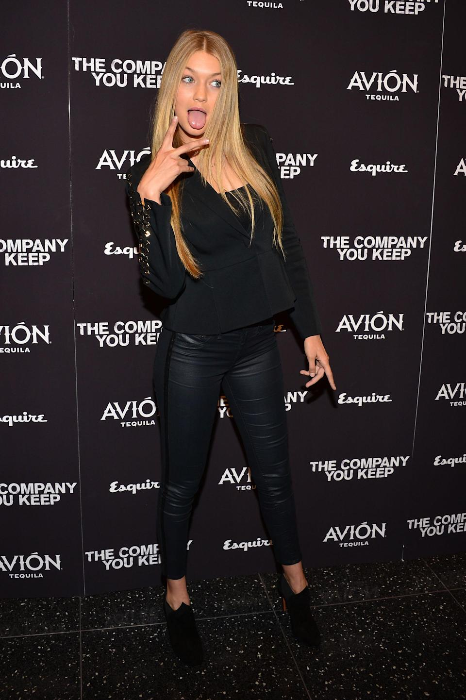 Here's Hadid attending a movie premiere in New York.