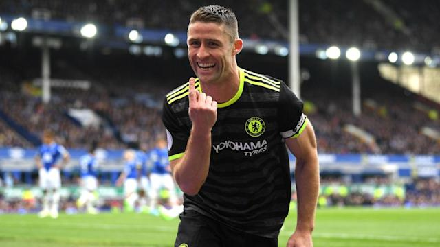 Chelsea are closing in on the Premier League title and Gary Cahill said that the 3-0 win over Everton felt like winning a cup final.