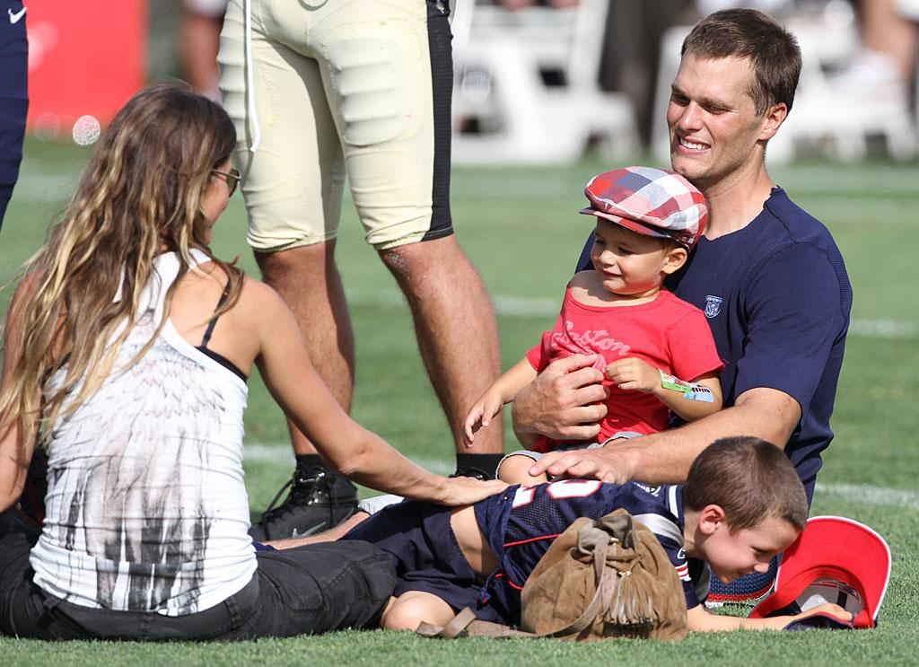 The supermodel and her Super Bowl champ certainly have plenty to smile about! <em>Forbes</em> just named them the second-highest earning celeb couple with $72 million in combined salaries and though they haven't confirmed the news, Gisele, 32, appears to be expecting another baby! (8/8/2012)