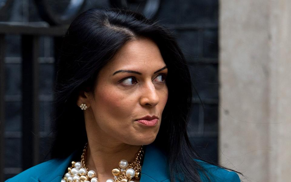 """Home Secretary Priti Patel has vowed to tackle """"litigious"""" human rights claimants who seek to delay their deportation from Britain after their cases are refused - Ben Pruchnie/Getty Images"""