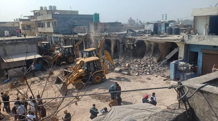 Administration carries out demolition drive in Zirakpur