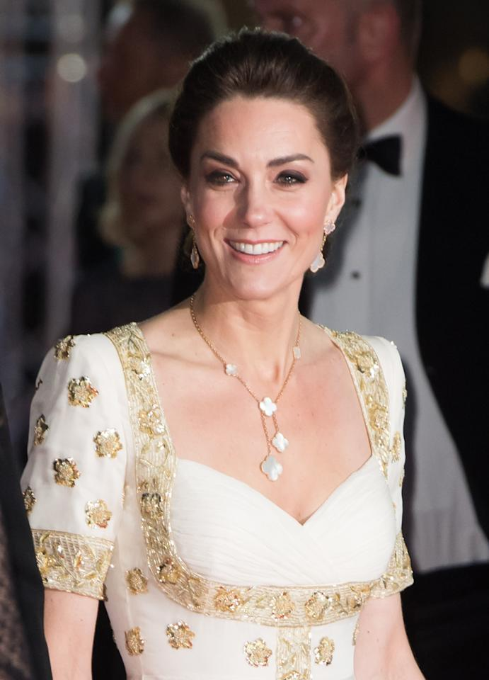 LONDON, ENGLAND - FEBRUARY 02: Catherine, Duchess of Cambridge attends the EE British Academy Film Awards 2020 at Royal Albert Hall on February 02, 2020 in London, England. (Photo by Samir Hussein/WireImage)