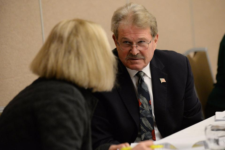 Board of State Canvassers Vice Chair Norman  Shinkle and board member Colleen Pero discussed a possible presidential recount in Michigan on Dec. 2, 2016.