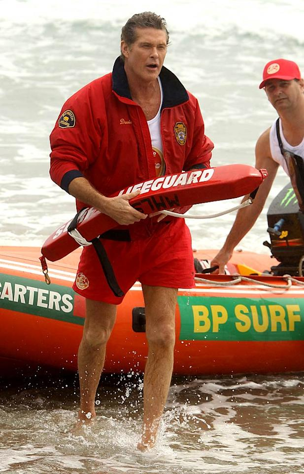 """Baywatch"" ended its storied run over ten years ago. Therefore, 58-year-old David Hasselhoff should probably hang up his red swim trunks ... for good. Phil Walter/<a href=""http://www.gettyimages.com/"" target=""new"">GettyImages.com</a> - January 6, 2011"