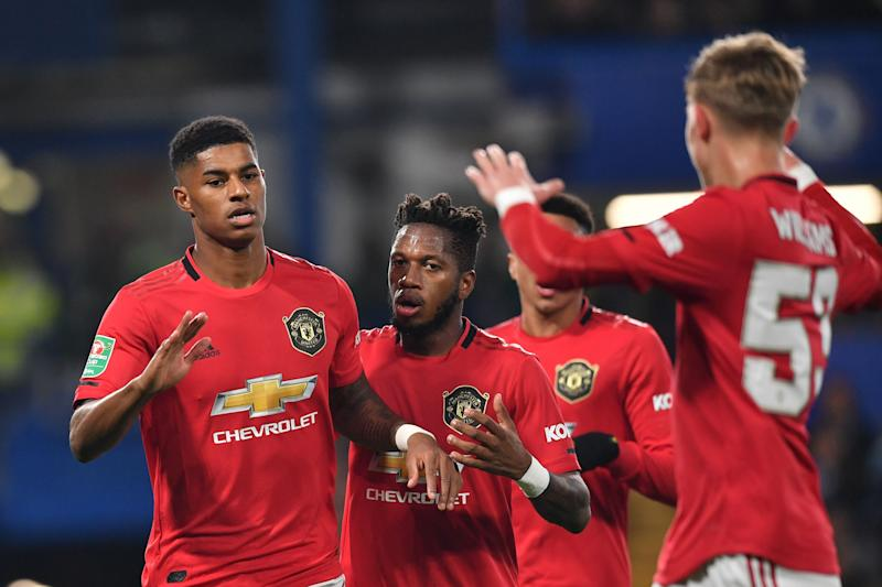 Marcus Rashford's brace won Wednesday's Carabao/League/EFL Cup tie for Manchester United. But is chasing this competition what it's come to? (Getty Images)