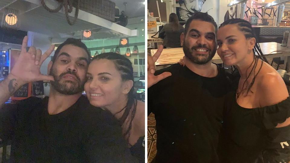 Greg Inglis and Suzi Taylor in candid selfies captured during that weekend he went missing