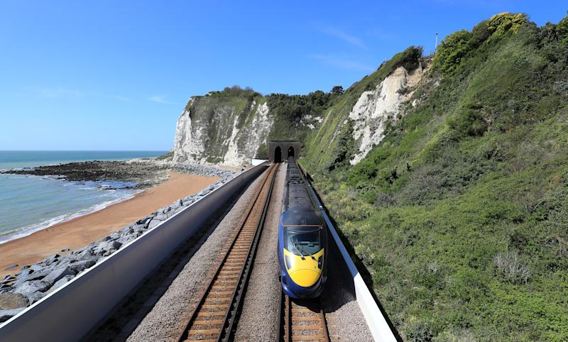 A Southeastern Highspeed Javelin train passes through Dover in Kent. Picture date: Friday April 26, 2019. Photo credit should read: Gareth Fuller/PA Wire