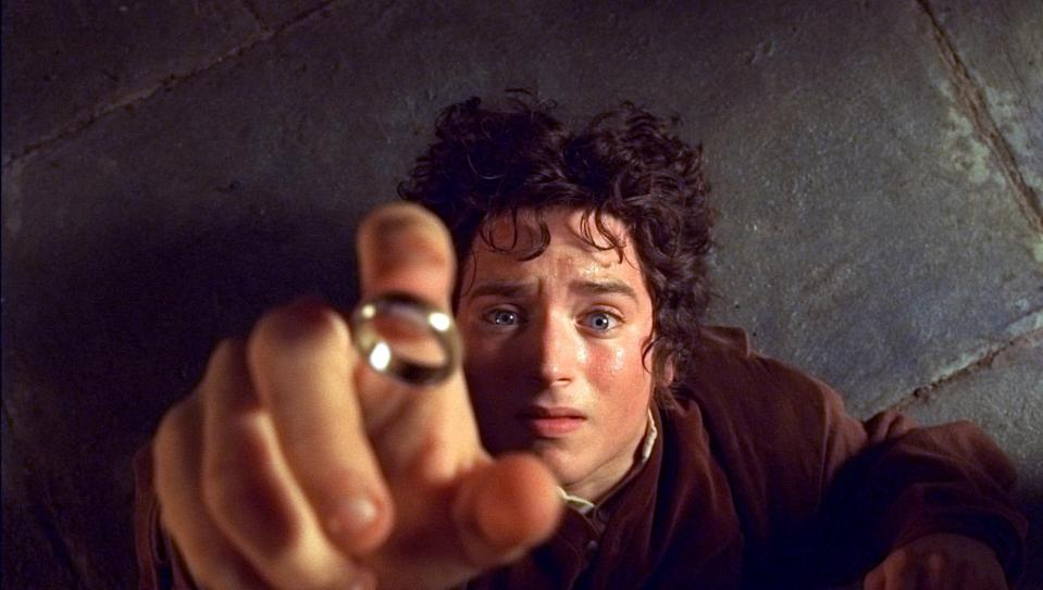 "Frodo (Elijah Wood) begins a journey to rid the world of the One Ring in ""The Lord of the Rings: The Fellowship of the Ring."""