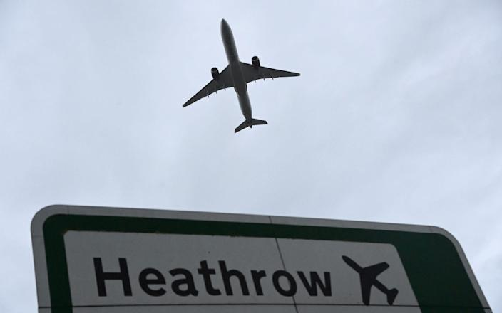 An aircraft takes off at Heathrow Airport amid the spread of the coronavirus disease (COVID-19) pandemic in London, Britain, February 4, 2021. - Reuters