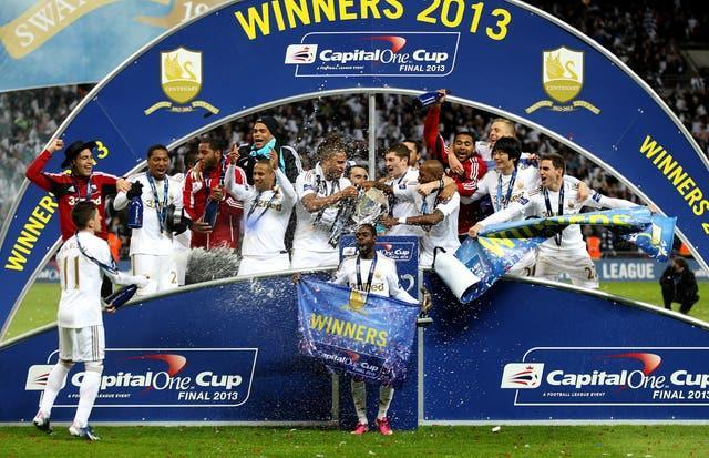 Swansea qualified for the Europa League under Laudrup after winning the 2013 League Cup