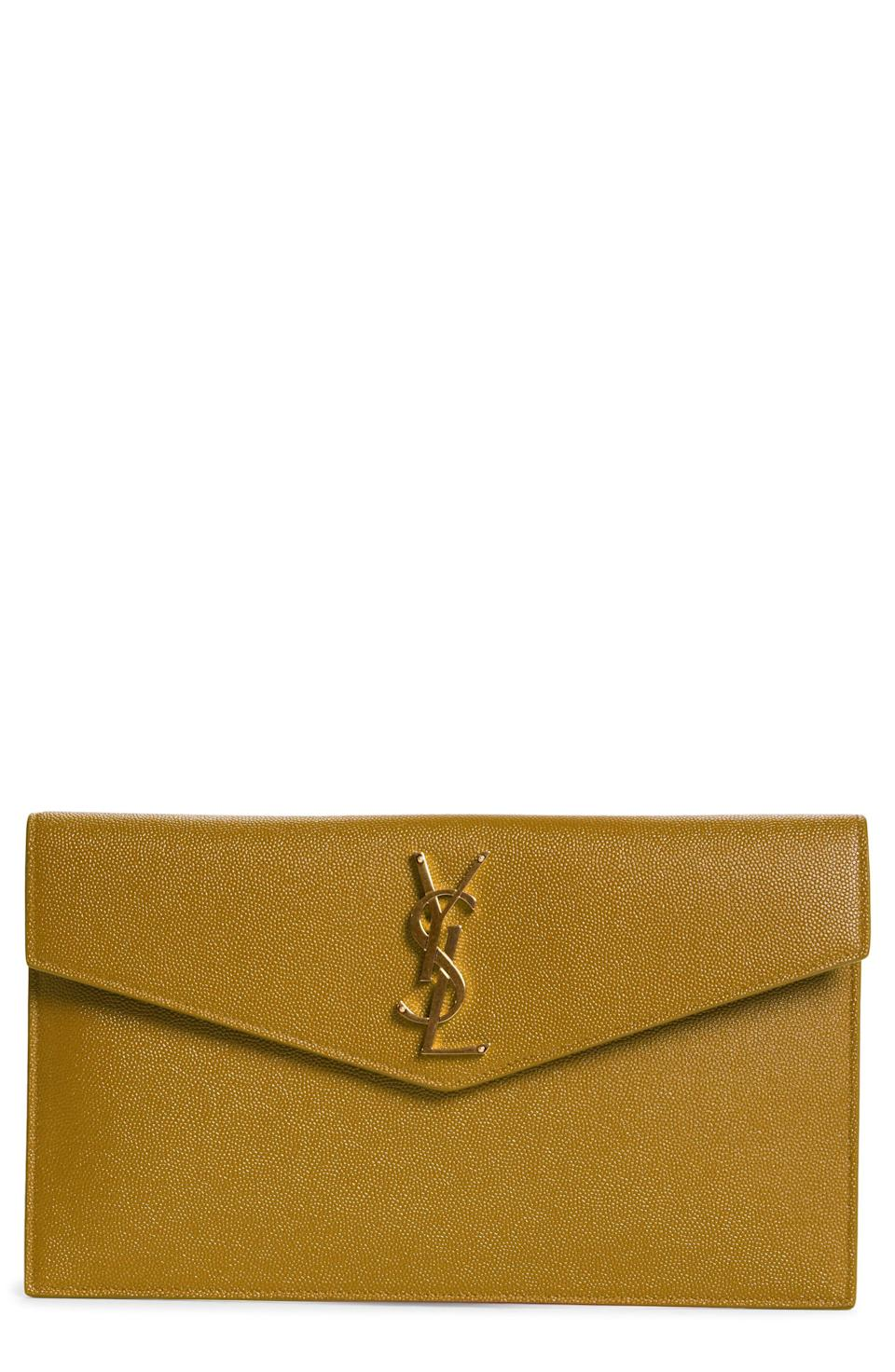 """<p><strong>Saint Laurent</strong></p><p>nordstrom.com</p><p><strong>$595.00</strong></p><p><a href=""""https://go.redirectingat.com?id=74968X1596630&url=https%3A%2F%2Fwww.nordstrom.com%2Fs%2Fsaint-laurent-uptown-calfskin-leather-envelope-clutch%2F5444506&sref=https%3A%2F%2Fwww.townandcountrymag.com%2Fstyle%2Ffashion-trends%2Fg37157428%2Fbest-evening-bags%2F"""" rel=""""nofollow noopener"""" target=""""_blank"""" data-ylk=""""slk:Shop Now"""" class=""""link rapid-noclick-resp"""">Shop Now</a></p><p>When in doubt, grab a YSL envelope clutch and tuck in your phone and credit cards and you'll be on your way.</p>"""