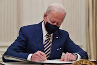 US President Joe Biden signs executive orders for economic relief to Covid-hit families