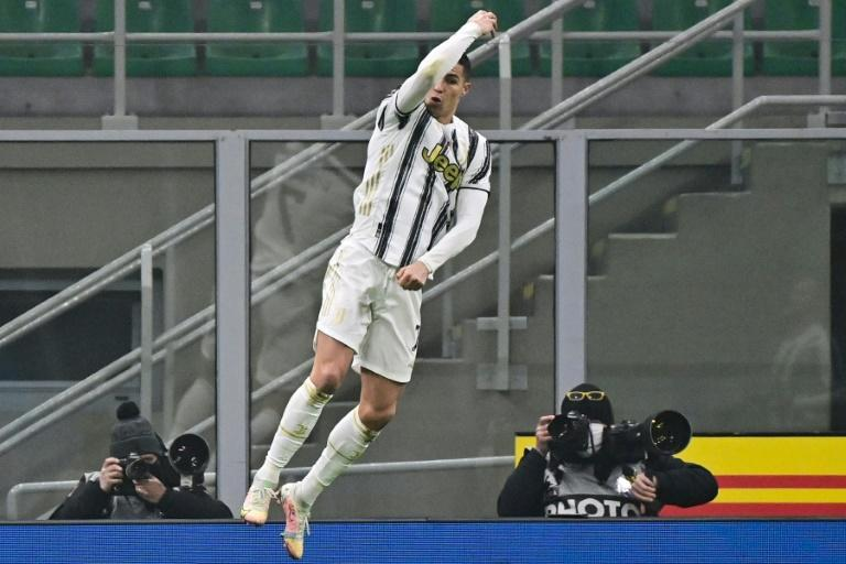 Ronaldo's brace put Juve in pole position to reach a sixth Italian Cup final in seven years