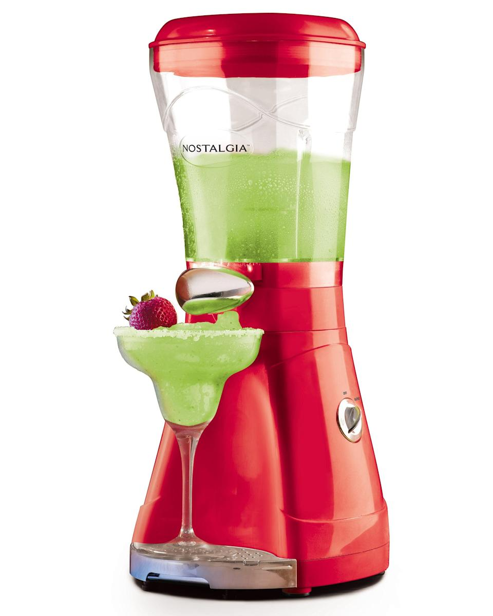<p>You're going to love using the <span>Nostalgia 64-ounce Margarita and Slush Maker</span> ($50) all summer long. </p>
