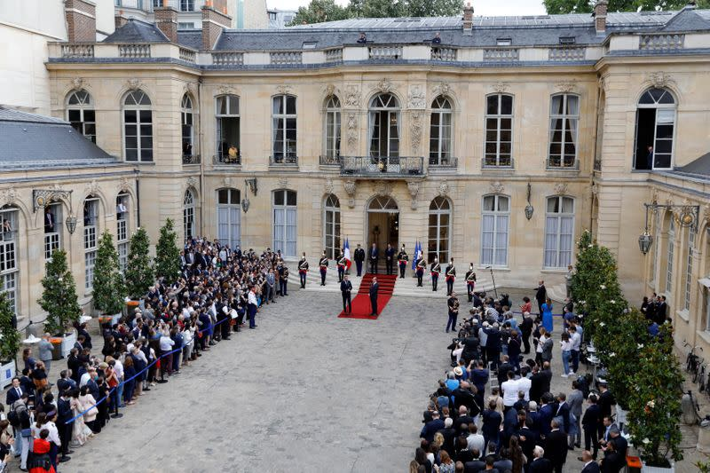New French government to be unveiled on Monday: Elysee sources