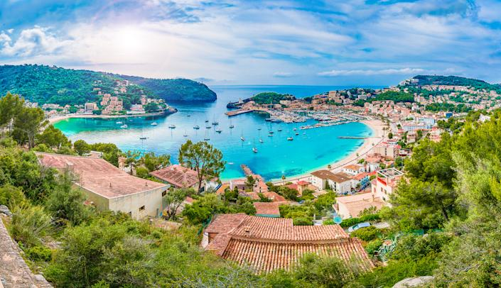 Take the tram to Port de Soller, in Mallorca. (Getty Images)