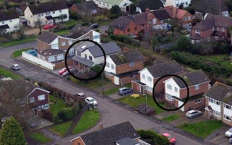 Peter Farquhar and Ann Moore-Martin lived just three houses apart in the quiet Buckinghamshire village of Maids Moreton - Credit: PA