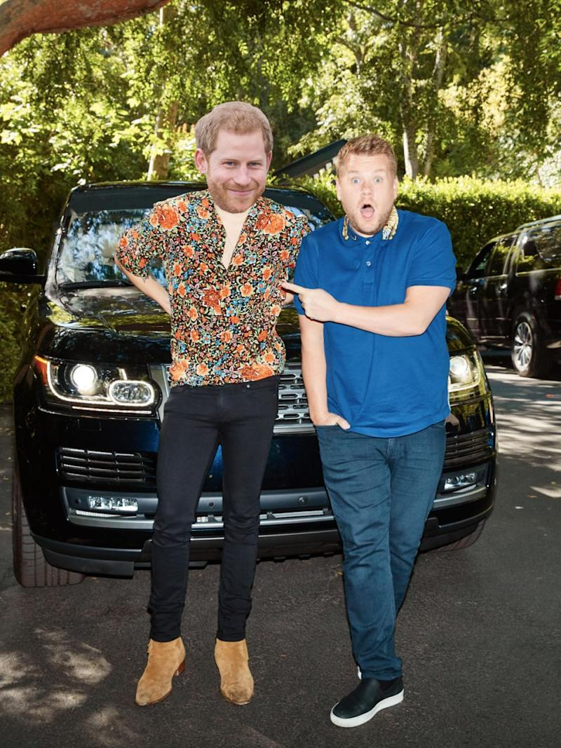 We reckon James Corden's potential invite to the royal bachelor party could open the gates for a royal rendition of Carpool Karaoke. Source: Getty