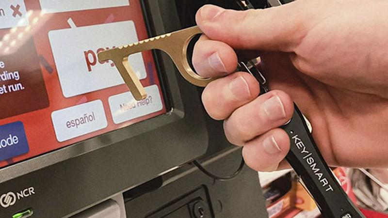 The CleanKey also works well with touchscreen devices and ATMs.