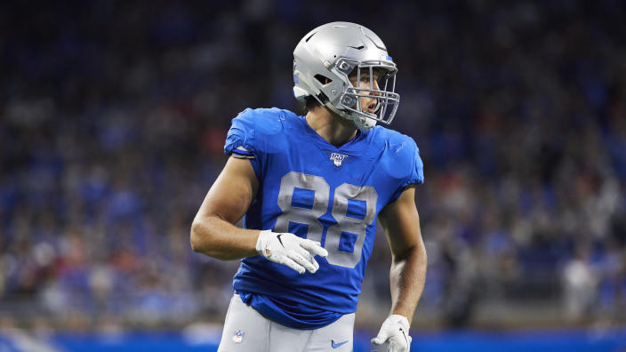 Detroit Lions tight end T.J. Hockenson (88)