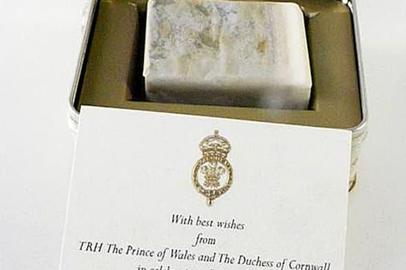BEST QUALITY AVAILABLE.Undated handout photo issued by Mellors & Kirk of a slice of cake baked for the Duke and Duchess of Cambridge's wedding, which is to be auctioned next week. PRESS ASSOCIATION Photo. Issue date: Friday April 4, 2014. Auctioneers Mellors and Kirk are expecting the slice of fruit cake to fetch between �50 and �150 when it goes up for sale on Wednesday April 9. See PA story ROYAL Cake. Photo credit should read: Mellors & Kirk/PA WireNOTE TO EDITORS: This handout photo may only be used in for editorial reporting purposes for the contemporaneous illustration of events, things or the people in the image or facts mentioned in the caption. Reuse of the picture may require further permission from the copyright holder.