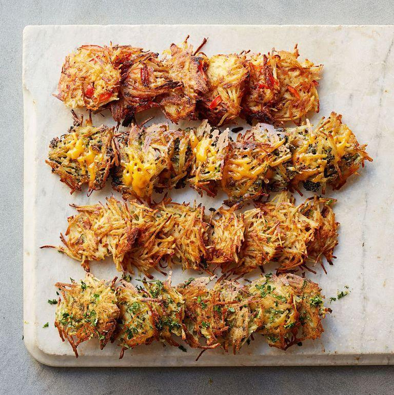 """<p>Who doesn't love hash browns? Spice up this quintessential breakfast good with some flavorful veggies. </p><p><strong><em><a href=""""https://www.womansday.com/food-recipes/food-drinks/recipes/a39631/smoky-red-pepper-hash-browns-recipe-ghk0514/"""" rel=""""nofollow noopener"""" target=""""_blank"""" data-ylk=""""slk:Get the Smoky Red Pepper Hash Browns recipe."""" class=""""link rapid-noclick-resp"""">Get the Smoky Red Pepper Hash Browns recipe.</a> </em></strong></p>"""