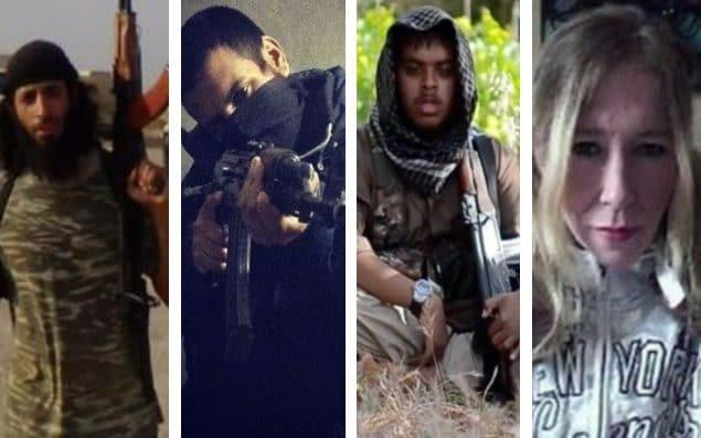 Faces of terror: Mohammed Emwazi, Junaid Hussain, Reyaad Khan and Sally Jones are among the Britons killed after joining Isil