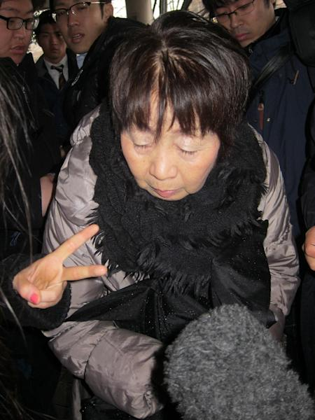 """Japanese woman Chisako Kakehi, known as the """"Black Widow"""", who is accused of poisoning of four elderly men with cyanide pictured in Kyoto on March 13, 2014 (AFP Photo/)"""