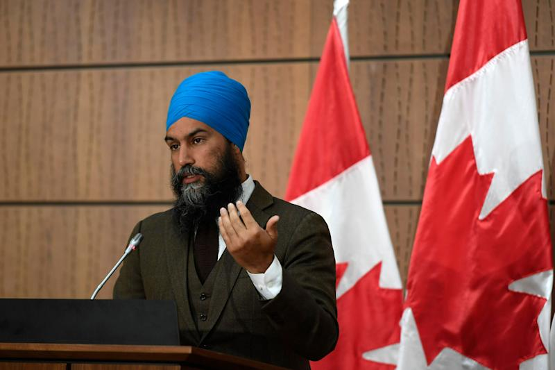 NDP Leader Jagmeet Singh speaks during a news conference in Ottawa on June 1, 2020. (Photo: Justin Tang/CP)