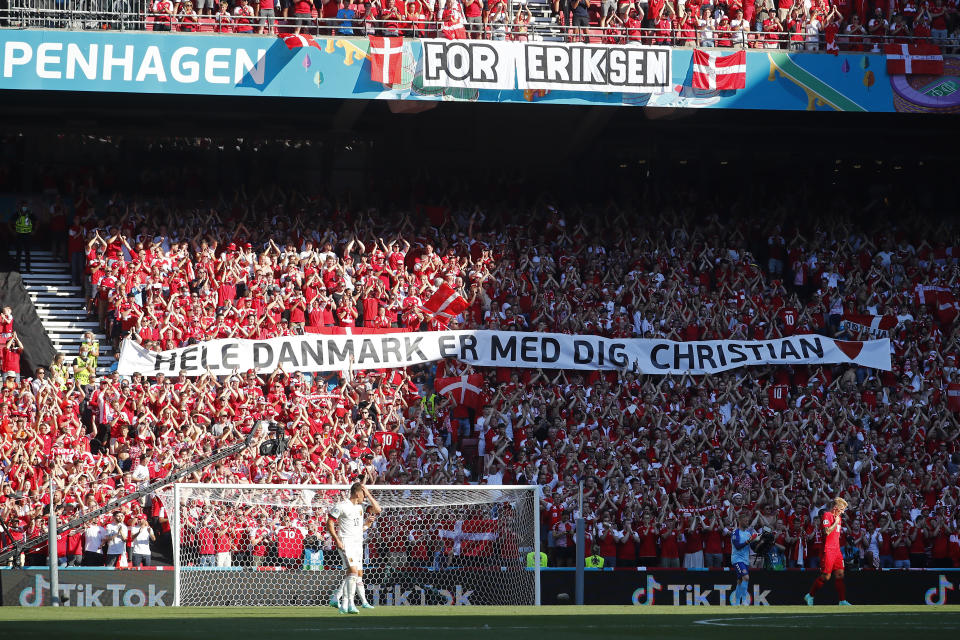 It was an emotional day for Denmark. (Photo by Wolfgang Rattay - Pool/Getty Images)