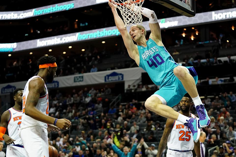 Cody Zeller #40 of the Charlotte Hornets