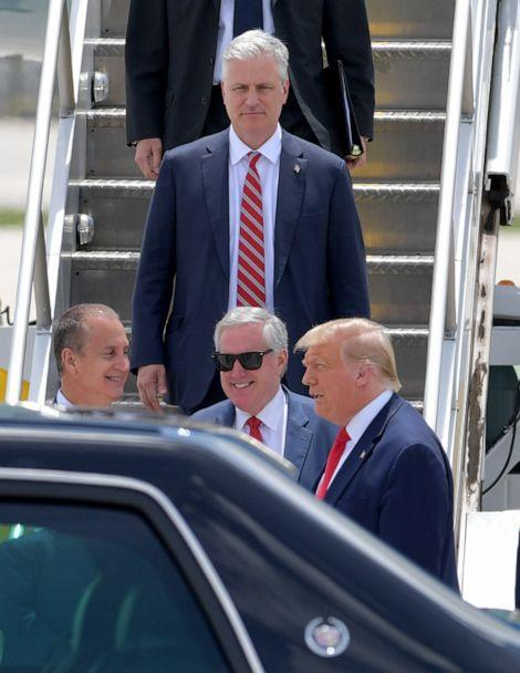 PHOTO: President Donald Trump arriving at Miami International Airport on July 10, 2020 in Miami, Florida. (SMG via ZUMA Wire)