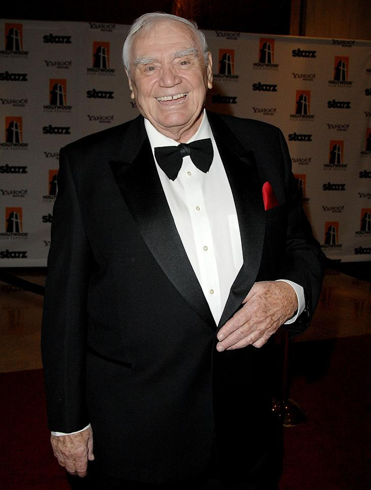 "<a href=""http://movies.yahoo.com/movie/contributor/1800015548"">Ernest Borgnine</a> at the 12th Annual Hollywood Film Festival Awards Gala in Beverly Hills - 10/27/2008"