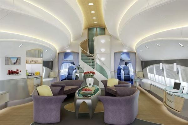 "<p><strong><a rel=""nofollow"" rel=""nofollow"" rel=""nofollow"" href="" http://www.boeing.com "">Boeing Business Jet 747</a></strong><br /><br/>Boeing have come to the party with their latest Aeroloft sleeping cabins aboard the Boeing Business Jet 747-8. Whilst the plainly-styled eight-person sleeping berths seem more appealing to a small team of business executives travelling long-haul, the lounge area is quite impressive looking much like the lobby of a chic hotel. <br/><br/><a rel=""nofollow"" rel=""nofollow"" href=""  http://www.boeing.com/""><b>Photo: Boeing </b></a><br/><br/></p>"