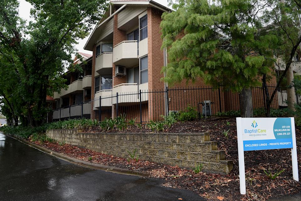 Six residents from BaptistCare Dorothy Henderson Lodge Aged Care Centre in Sydney died after testing positive for COVID-19. Source: AAP