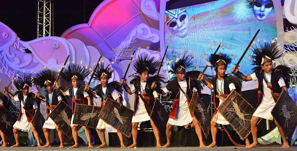 Folk dancers from Arunachal Pradesh.