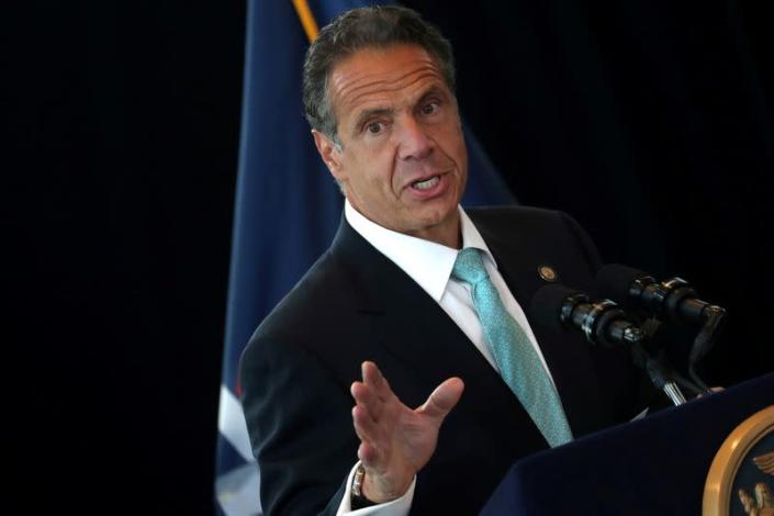 FILE PHOTO: New York Governor Cuomo speaks from One World Trade Center Tower in New York
