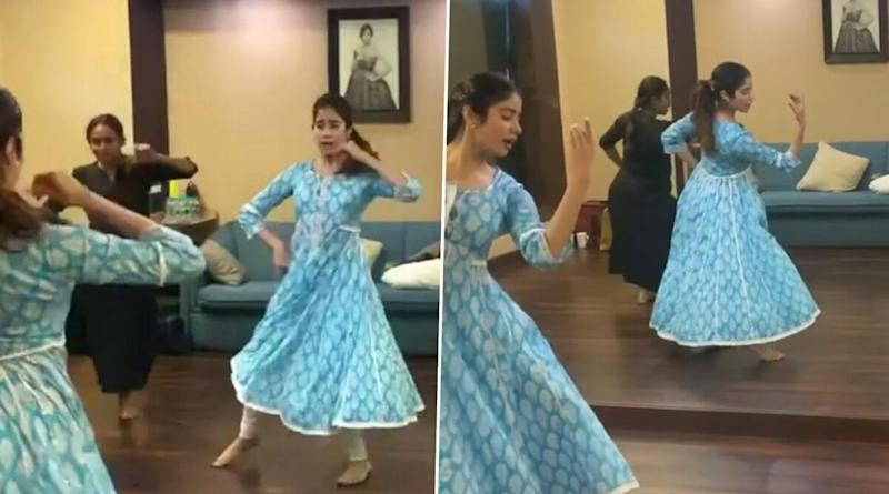 Janhvi Kapoor's Dance on Waheeda Rehman's 'Piya Tose' Song Is Truly Elegant! (Watch Video)