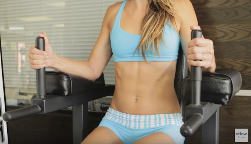 This exercise uses lower ab muscles (YouTube eHow Fitness)