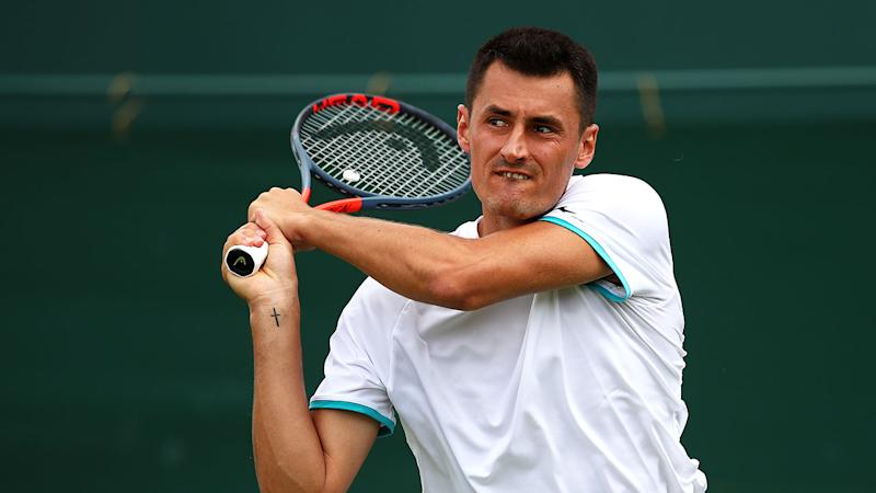 Bernard Tomic copped it from fans and commentators after a shocking first round loss. Pic: Getty