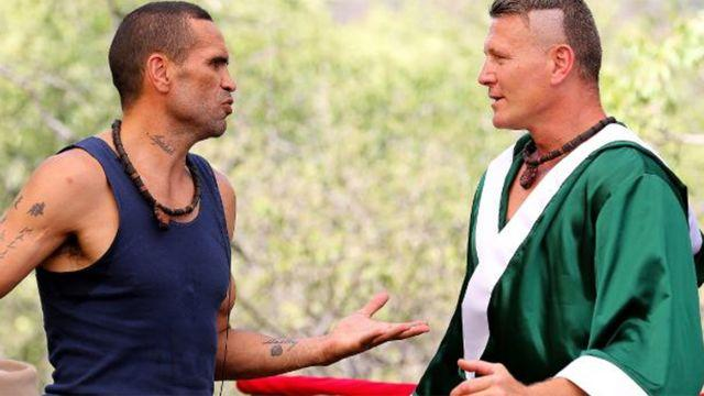 Mundine and Green in the jungle. Image: Network Ten
