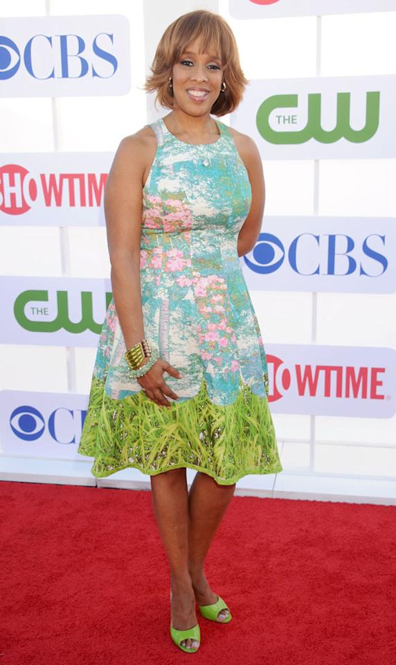 "Gayle King (""CBS This Morning"") arrives at the CBS, Showtime, and The CW Summer 2012 Press Tour Party on July 29, 2012 in Beverly Hills, California."