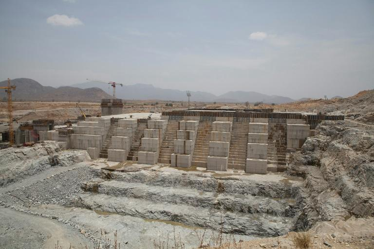 The Grand Renaissance Dam under construction near the Sudanese-Ethiopian border in March 2015