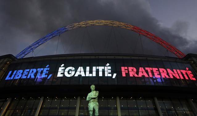 Wembley's response to the terror attacks in Nice, 2016